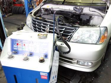 トヨタ グランドハイエース(グランビア)KCH10W ATF圧送式交換 千葉県よりご来店 【前編】